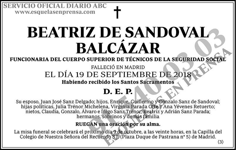 Beatriz de Sandoval Balcázar